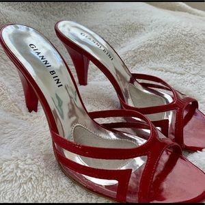 Red Gianni Bini heels